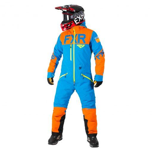 FXR Monosuit - blár/orange