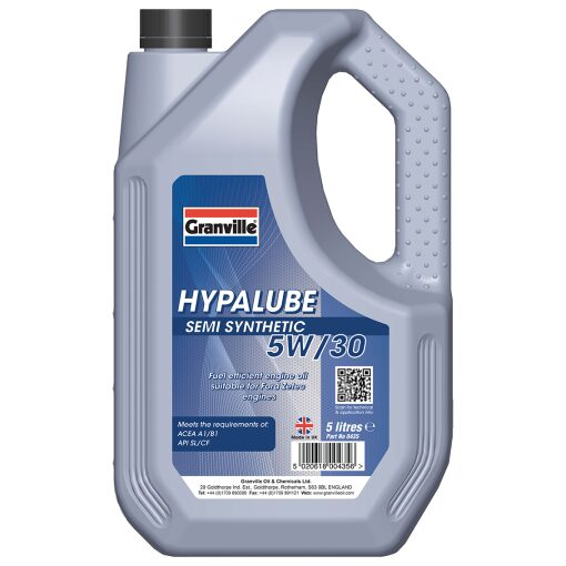 5W/30 Olía Hypalube Semi Synthetic - 5 l.