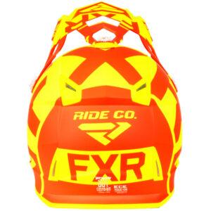 FXR Boost Clutch hjálmur - rauður/gulur