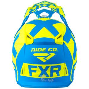 FXR Boost Clutch hjálmur - blár/gulur