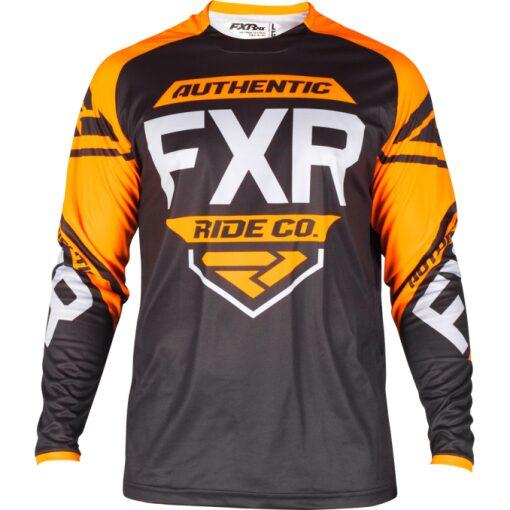 FXR Retro treyja - svört/orange