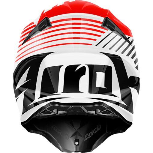 Airoh Twist Strange hjálmur - hvítur/rauður