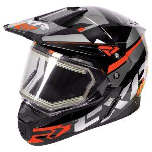FXR FX-1 hjálmur með hitagleri - svartur/orange