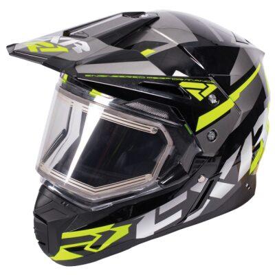 FXR FX-1 hjálmur með hitagleri - svartur/gulur