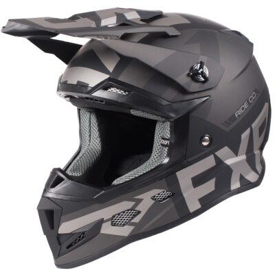 FXR Evo barnahjálmur - svartur